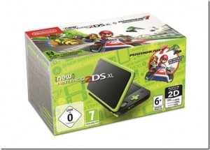 Konsola New Nintendo 2DS XL Black&Lime Green + MK7